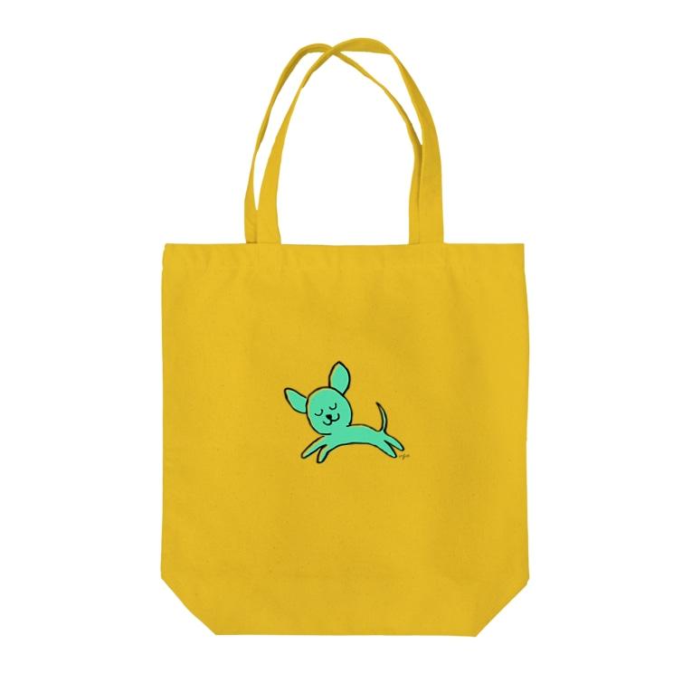 ugadesign shopのInuuu - tiny dog Tote bags
