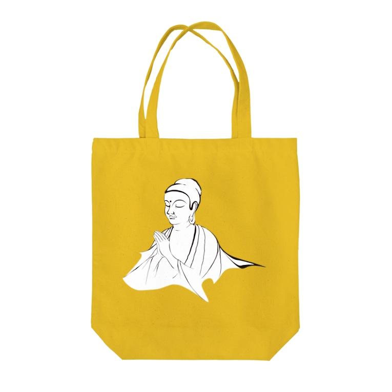 suparnaのブッダ 祈り Tote bags