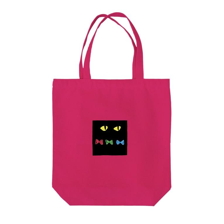 higanbanaのくろねこ Tote bags