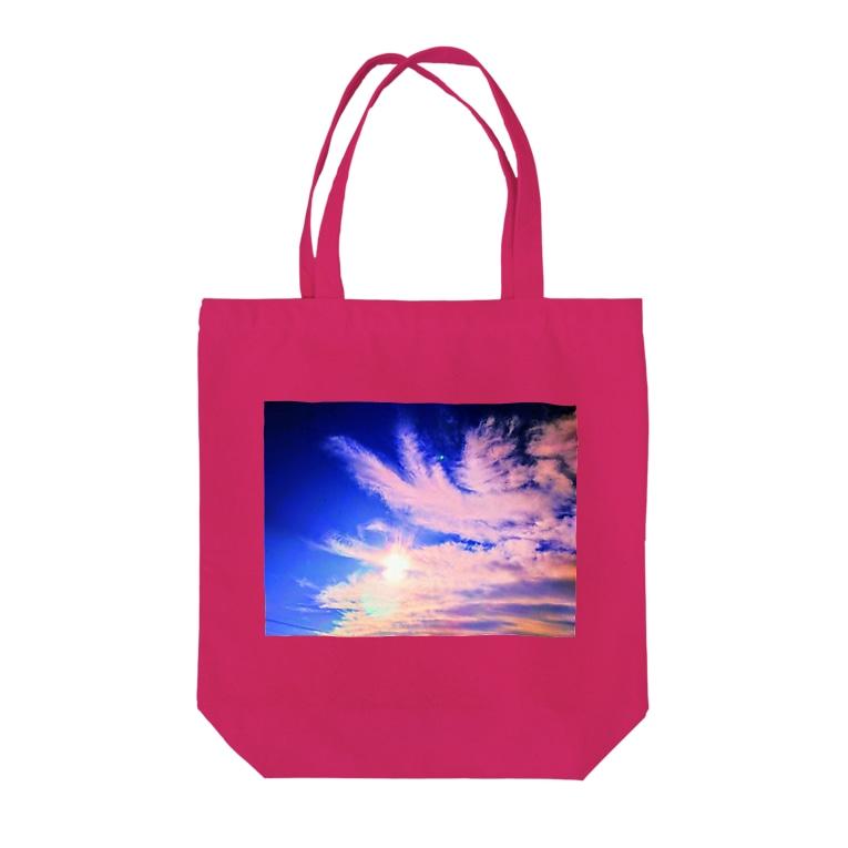 錆猫の館の鳳凰の舞い☆朱色 Tote bags