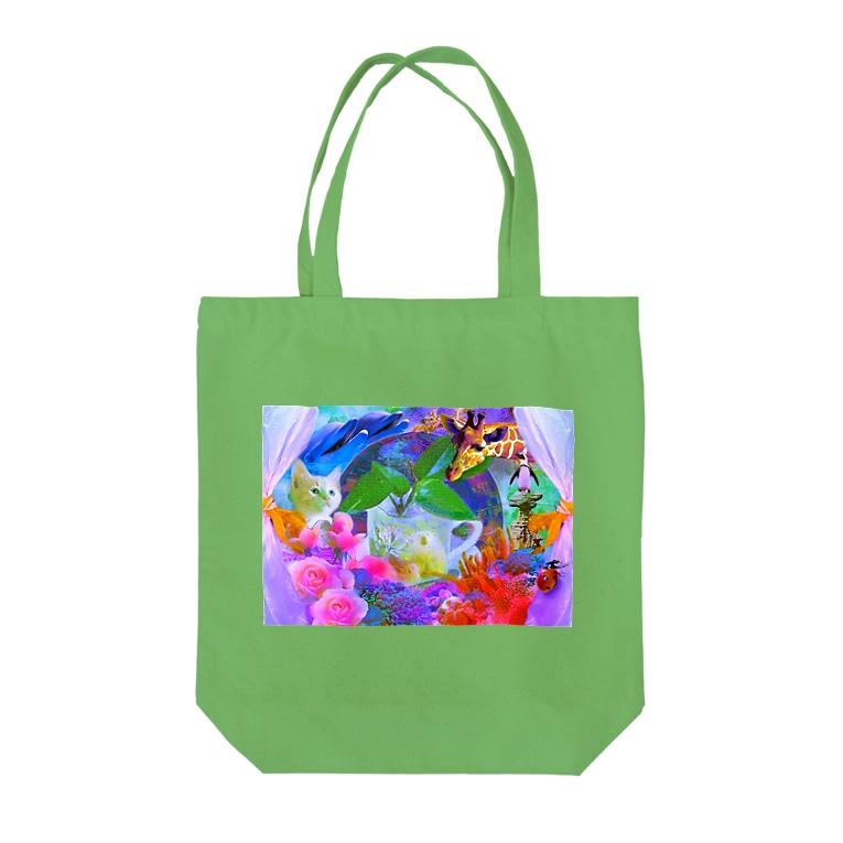 BOKUHIKARUのレジ袋はいりません Tote bags