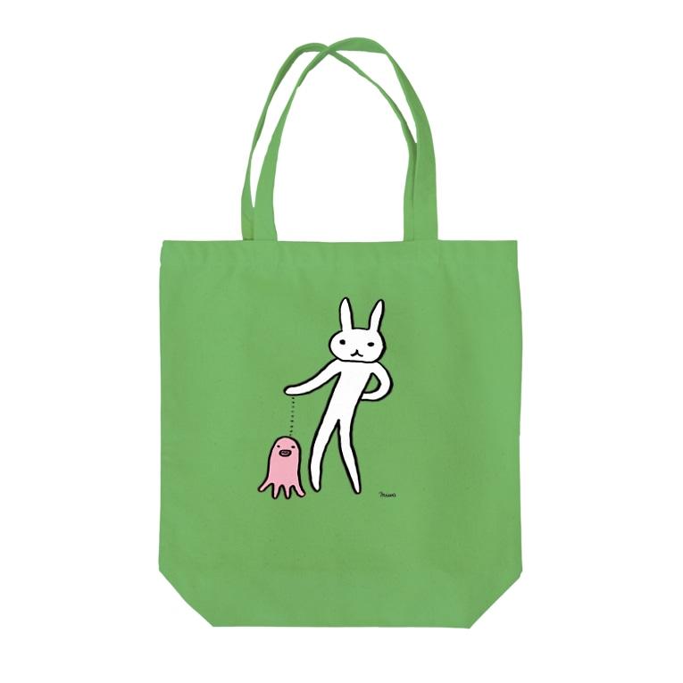 うさぎまつりのタコとお散歩 Tote bags