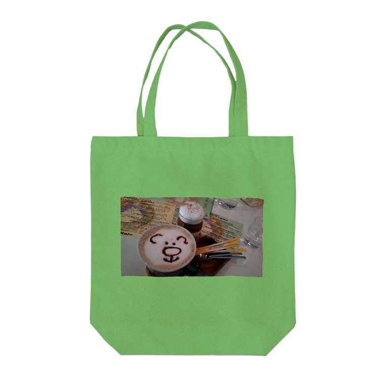 MANDARA△IDの🐻KUMAcafé☕ Tote bags