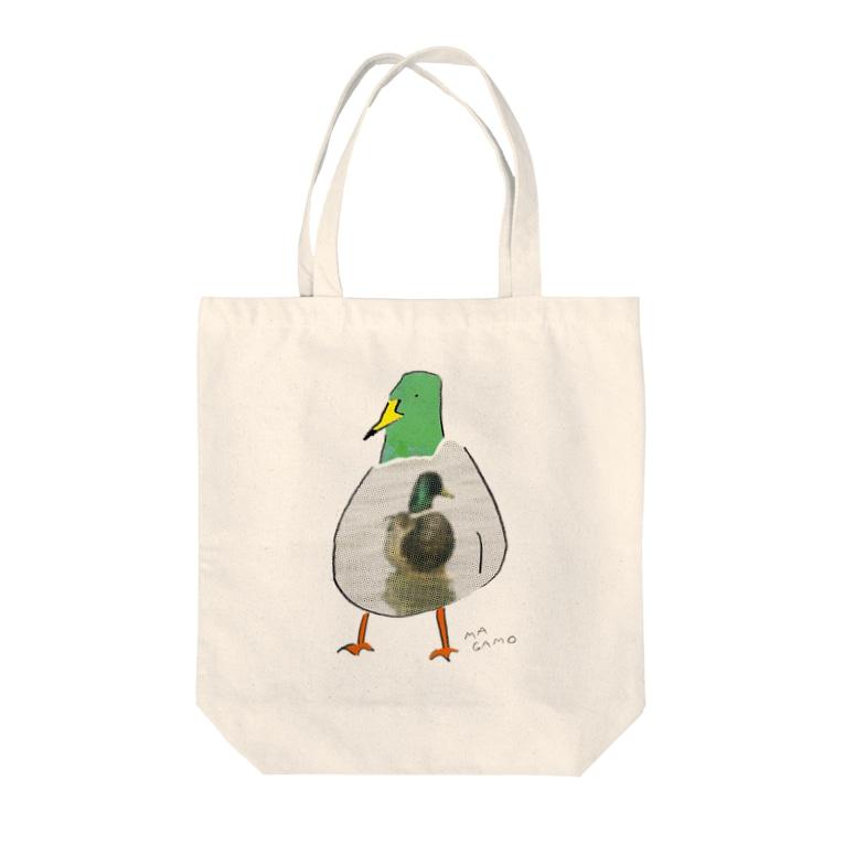 TORISUKI(野鳥・鳥グッズ)のカモかもしれない Tote bags