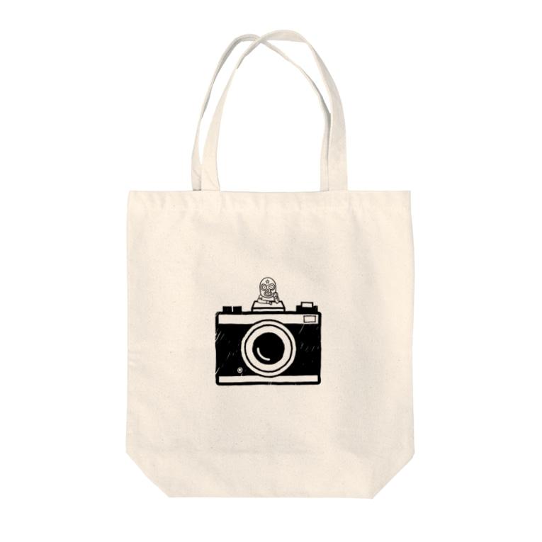 はしもとあやねのカメラとレスラー(モノクロ) Tote bags