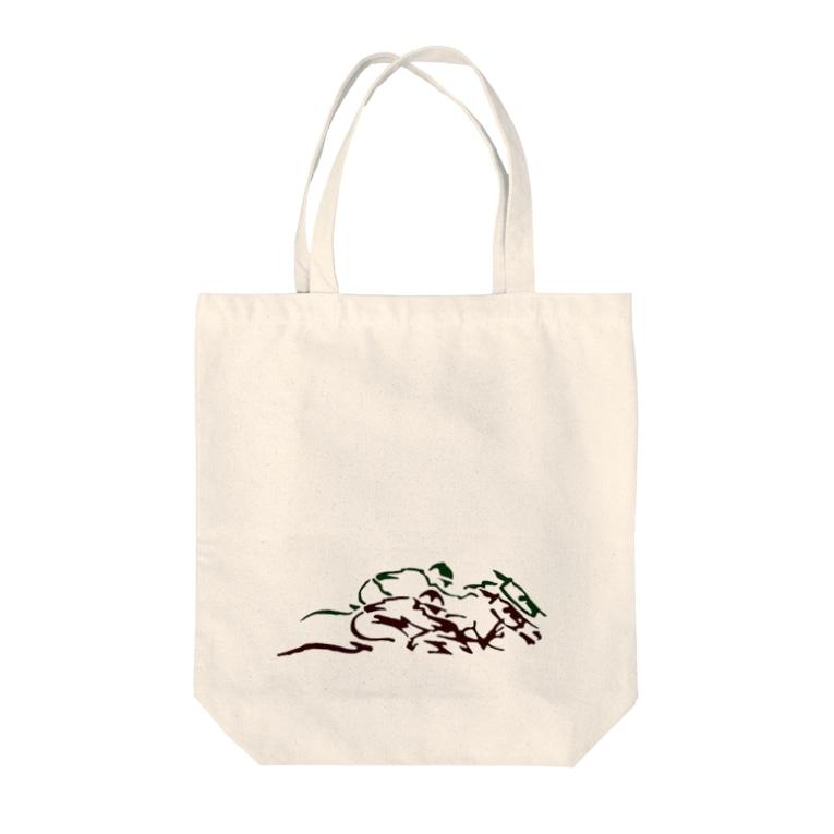BBdesignの馬1 Tote bags