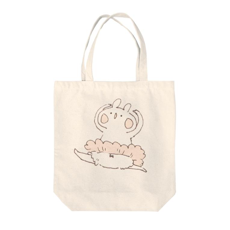 *momochy shop*のバレエうさぎ Tote Bag