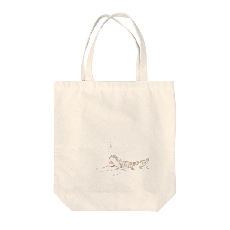 ぬたやのウーパールーパートート マーブルチャンver Tote bags