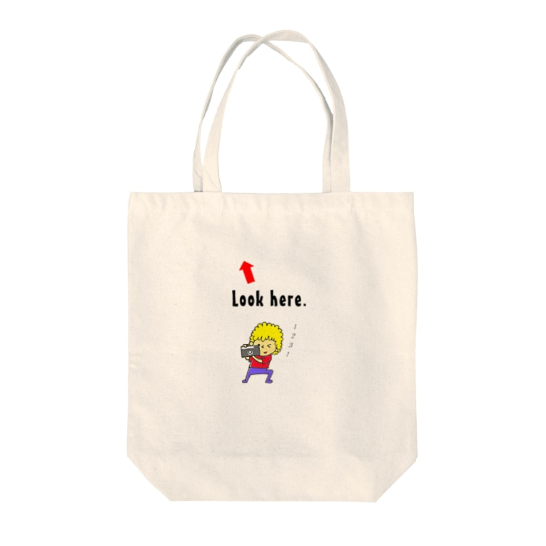 carry77のLook here. Tote bags