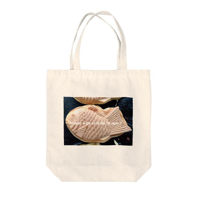 高田万十のWhat will you do today? Tote bags