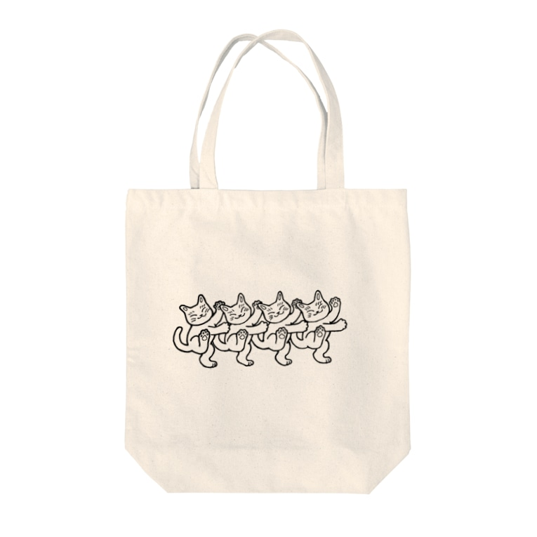 mikepunchの猫おどり Tote bags