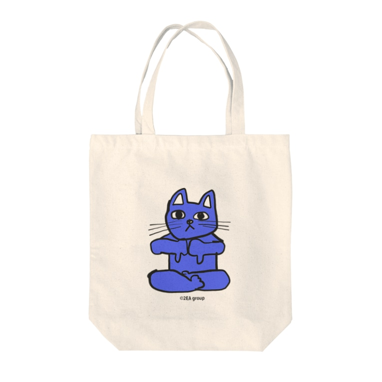 Official GOODS Shopのフレキシビリティー・ラックス・誠(2EA group カラフルニャーンコ軍団) Tote bags