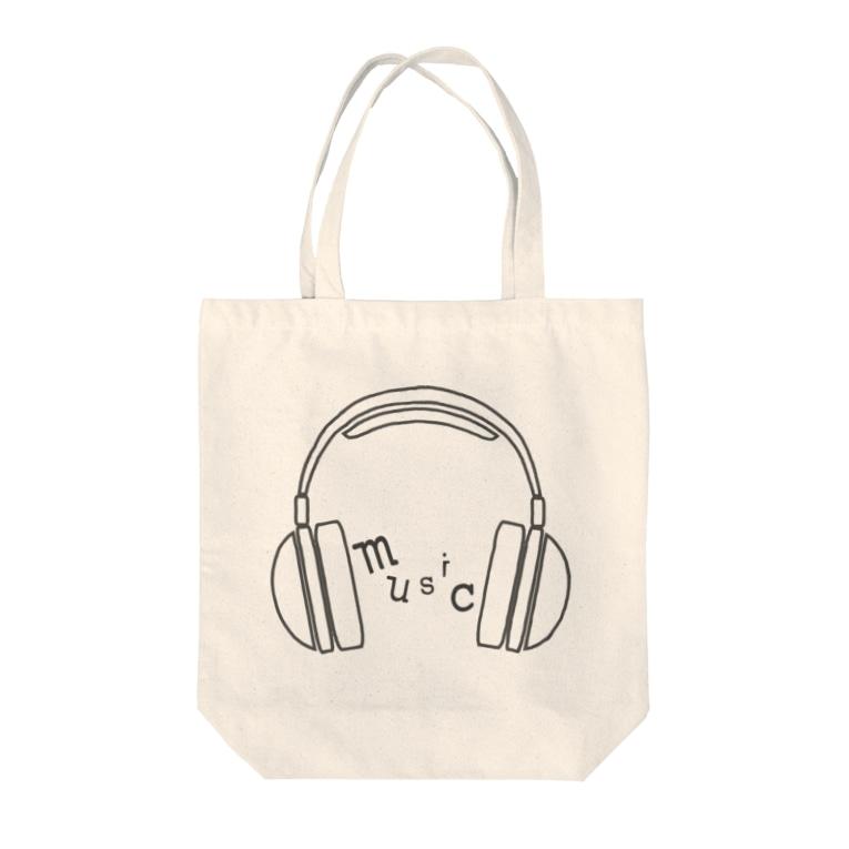 hitokoto-kotobaのhitokoto-kotoba_music Tote bags