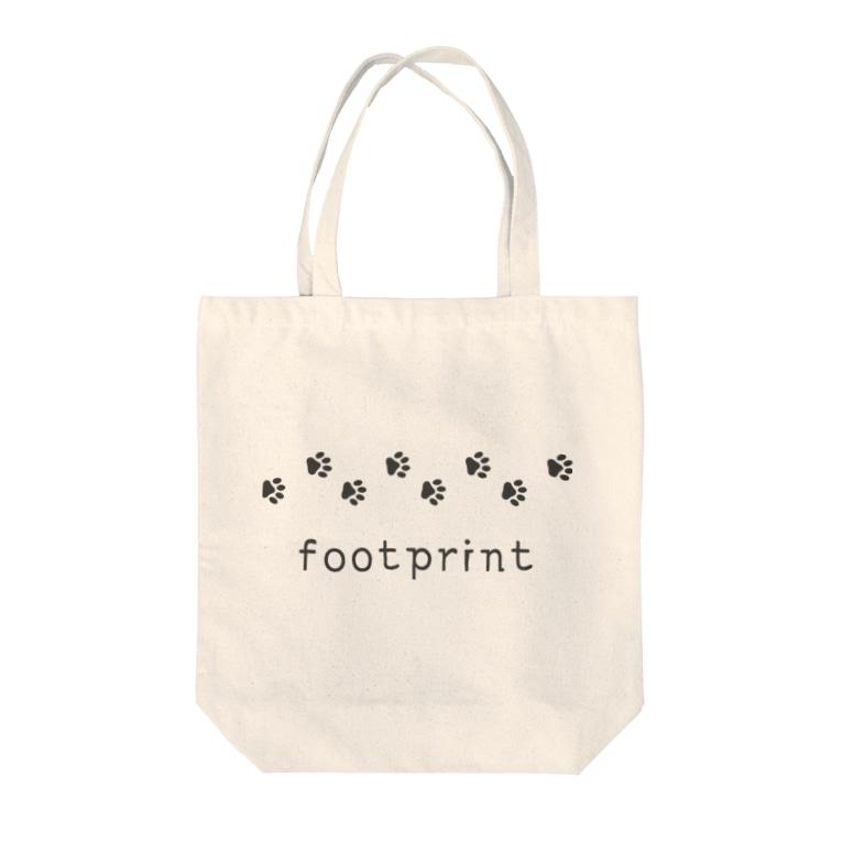 hitokoto-kotobaのhitokoto-kotoba_footprint Tote bags