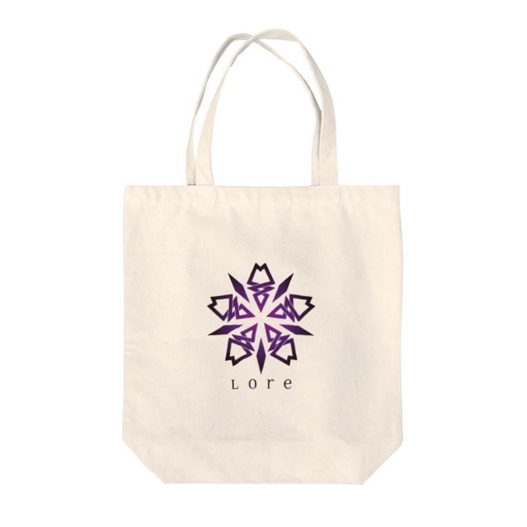 LoreのLore(PURPLE) Tote bags