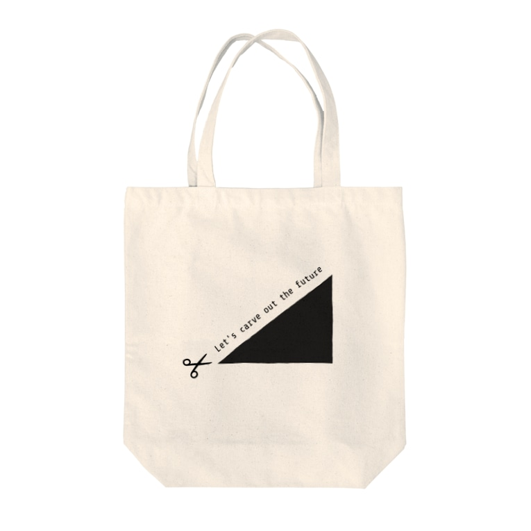 chia chia のLet's carve out the future! Tote bags