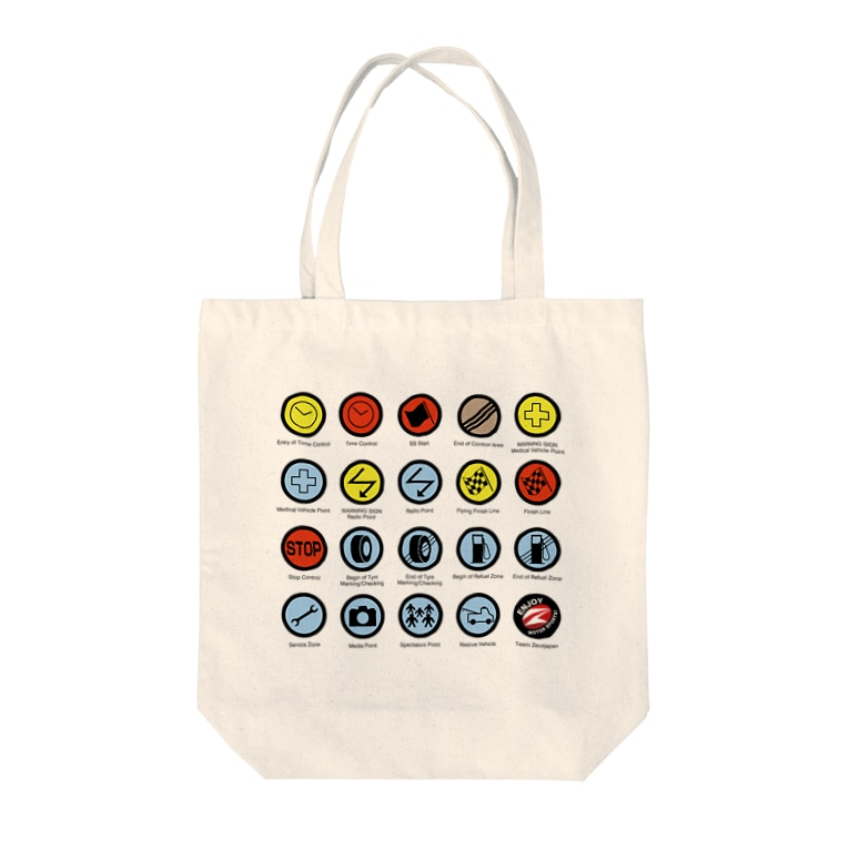 ZEUSJAPANのRALLY CONTROL SIGNS Tote bags