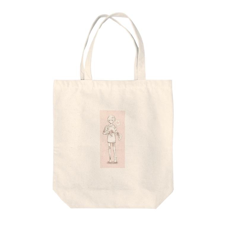 中田紫苑の女の子 Tote bags