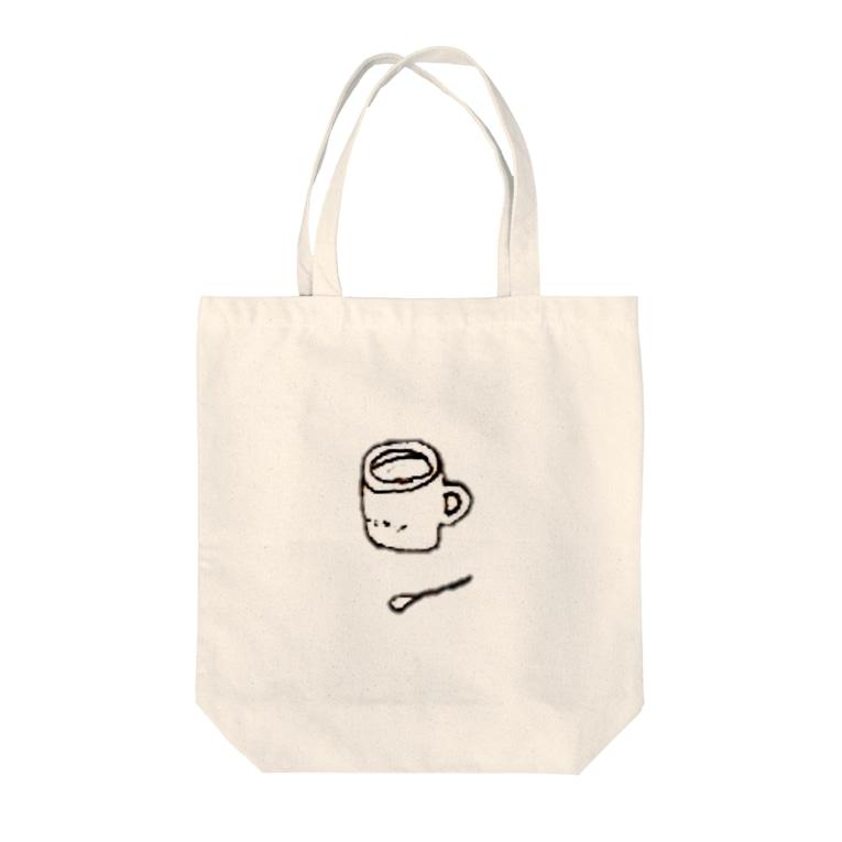 Cheese Pupu + yuuhiのマグカップとスプーン Tote bags