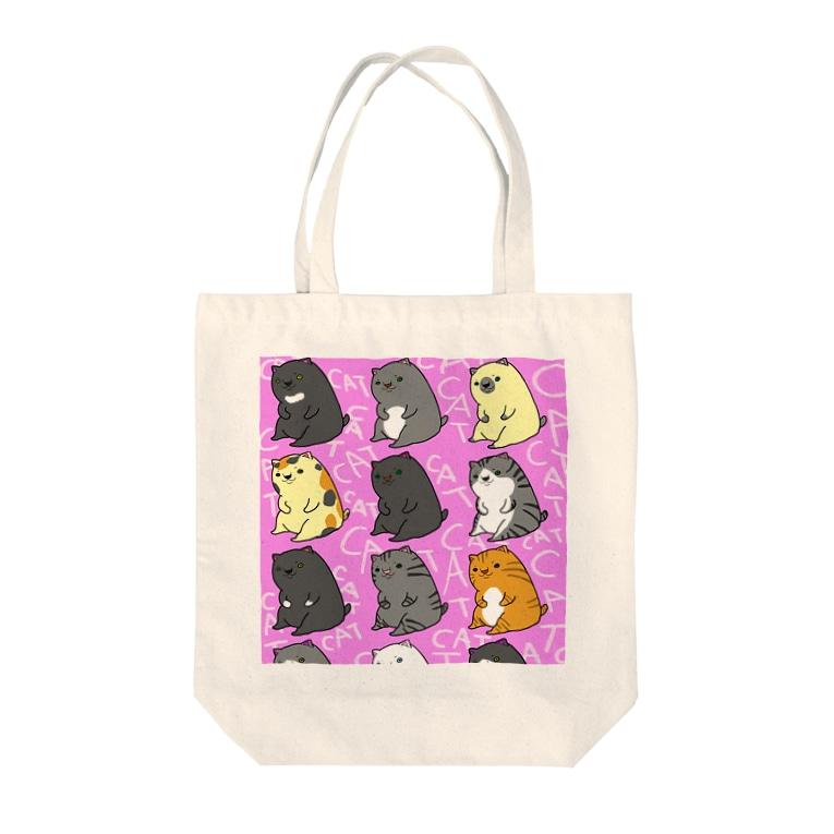 クロのお試しSHOPのねこねこーんいっぱい Tote bags