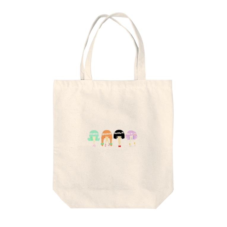 ナリさんのヘア × スカート Tote bags
