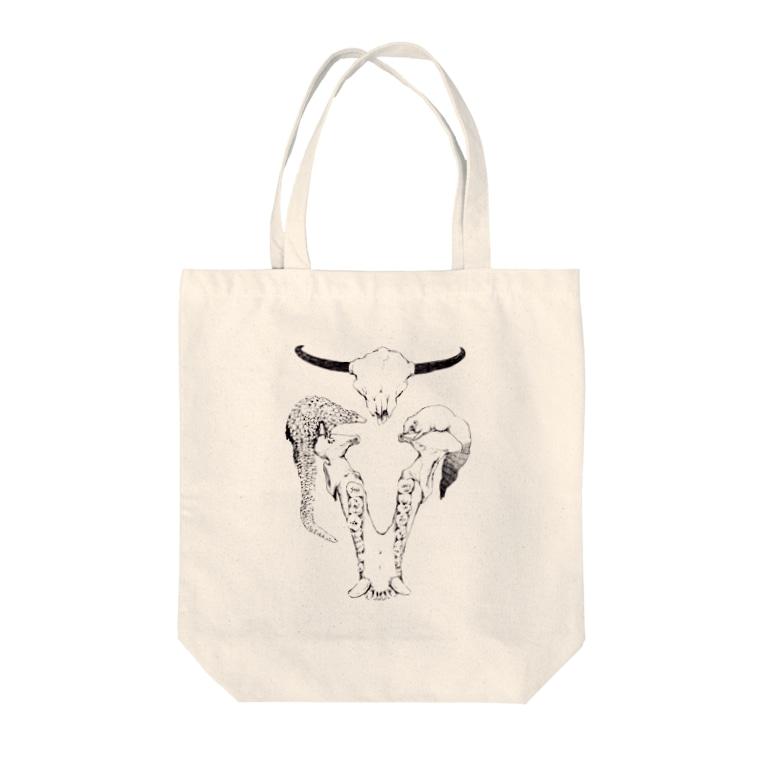 maooのbone Tote bags
