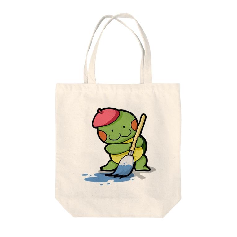 かめ吉のお絵描きかめ吉 Tote bags