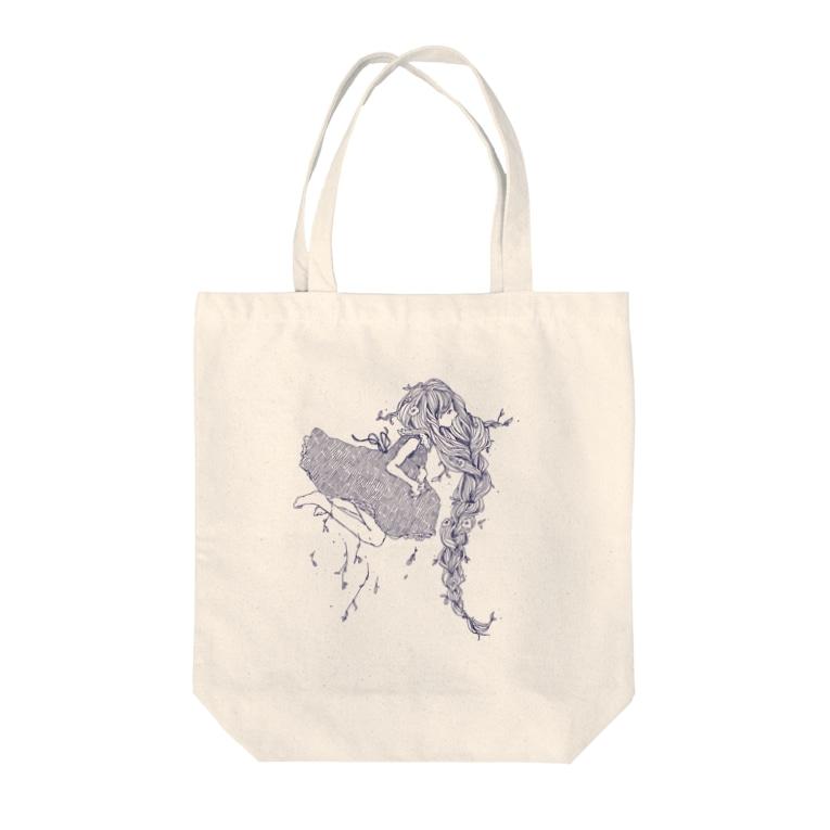 donmiluの植物少女 Tote bags