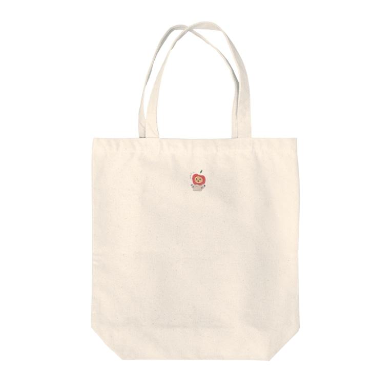 IZUUZIのびっくりんご Tote bags