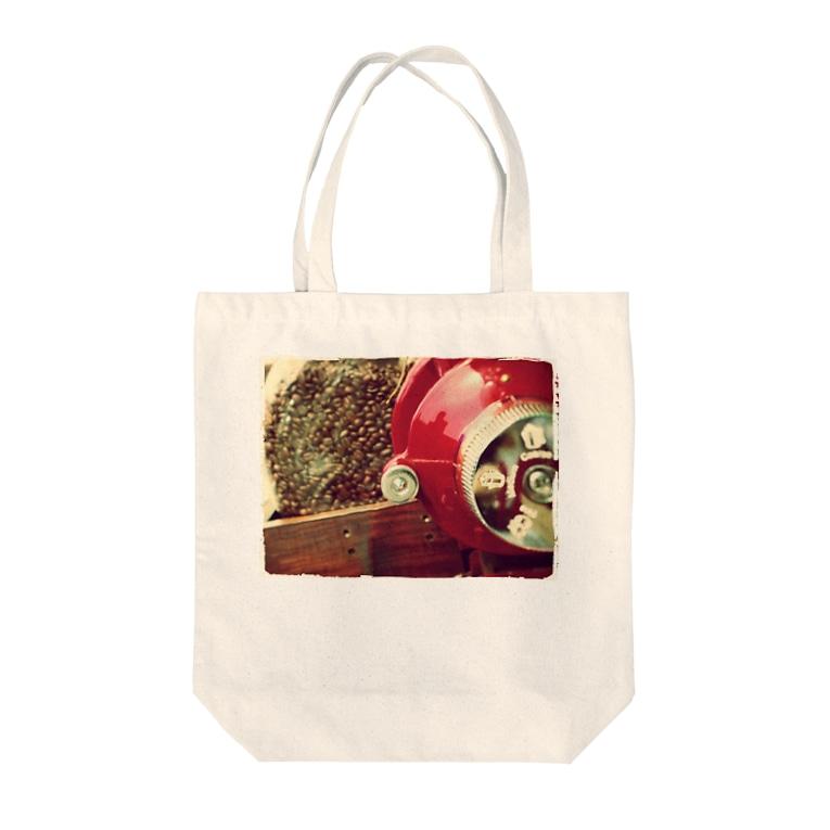OMOMUKIのコーヒーショップ Tote bags