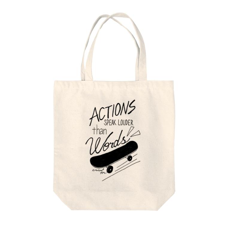 MINA YAMAGIWAのskateboard Tote bags