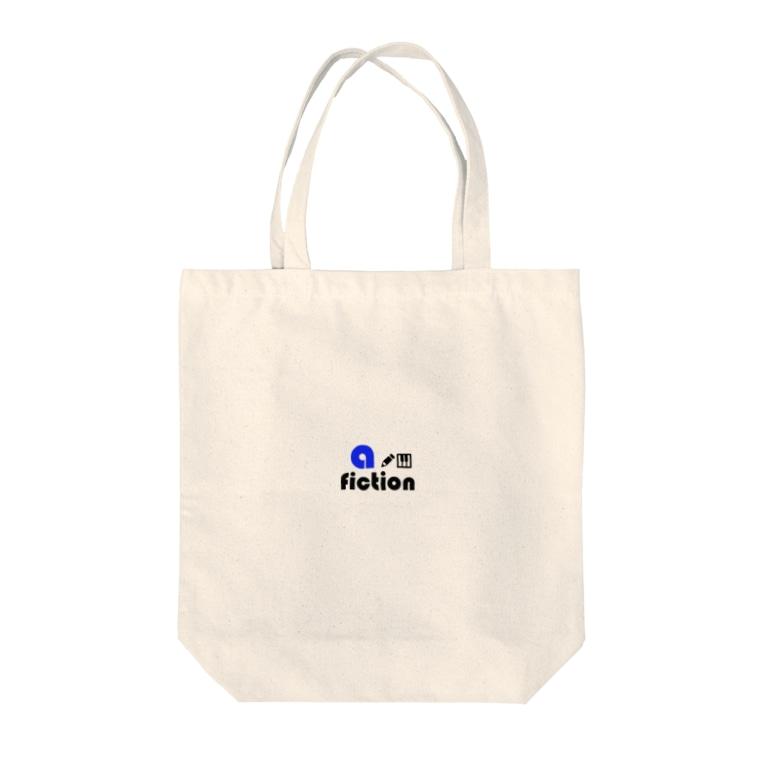 label ftom minirockのa-fiction logo blue Tote bags