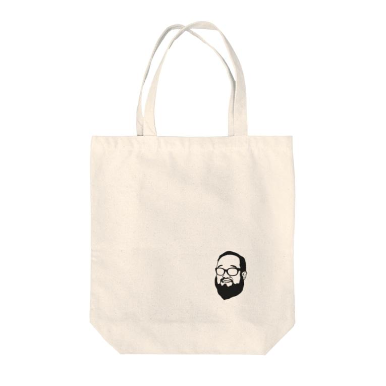 aubergのShacho logo black Tote bags