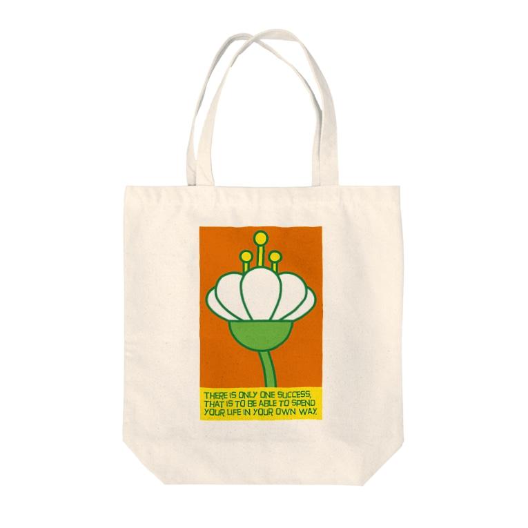 occasiの花の横顔 Tote bags
