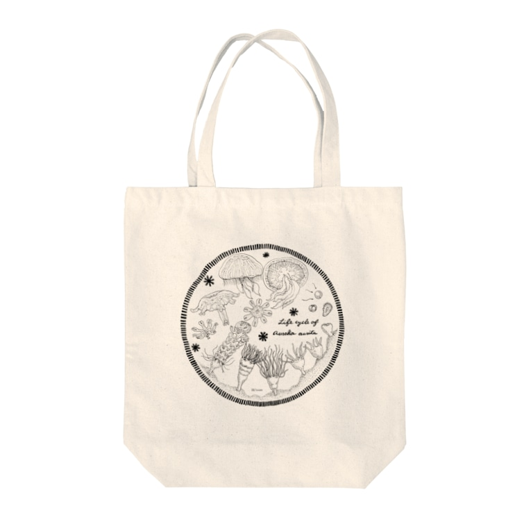 Hi*roomのミズクラゲの生活史 Tote bags