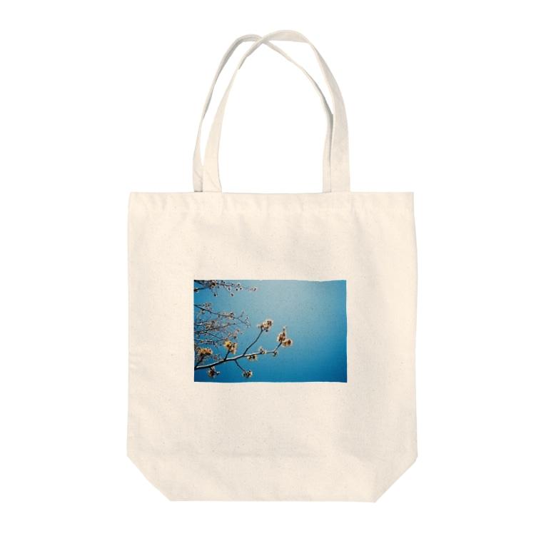 cozcozの春 見上げたら Tote bags