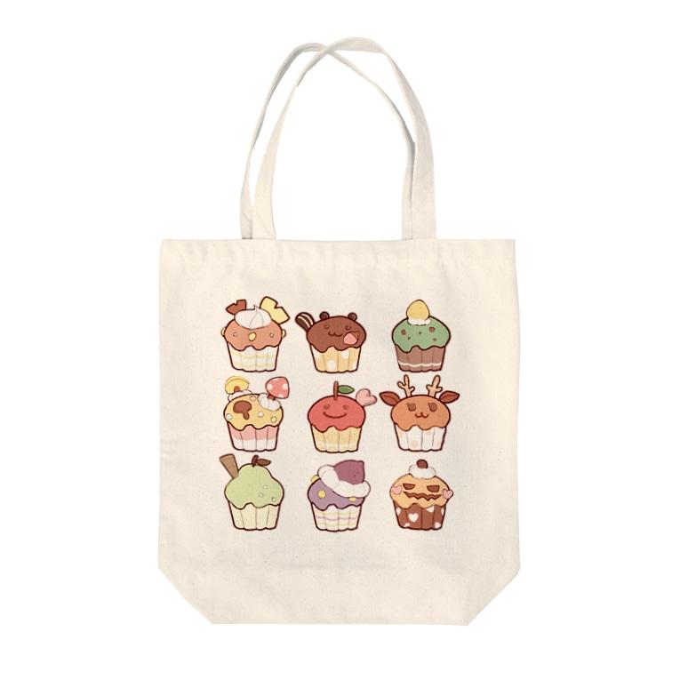 ちとせあめの秋のカップケーキ Tote bags
