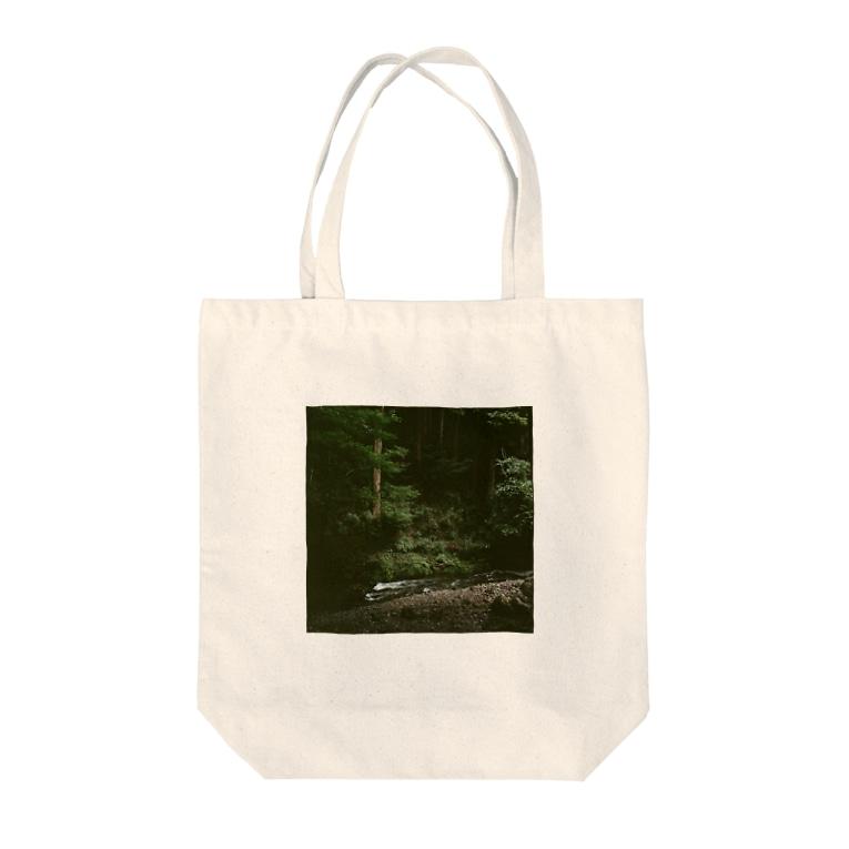 Shogo Hirokiの林 Tote bags