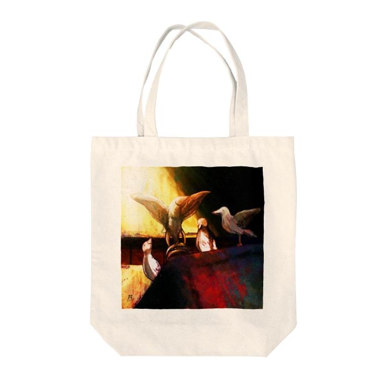 技法勇者の店/Technigic-Braves' Shop in SUZURIの白鳩を呼ぶ造形物 Tote Bag