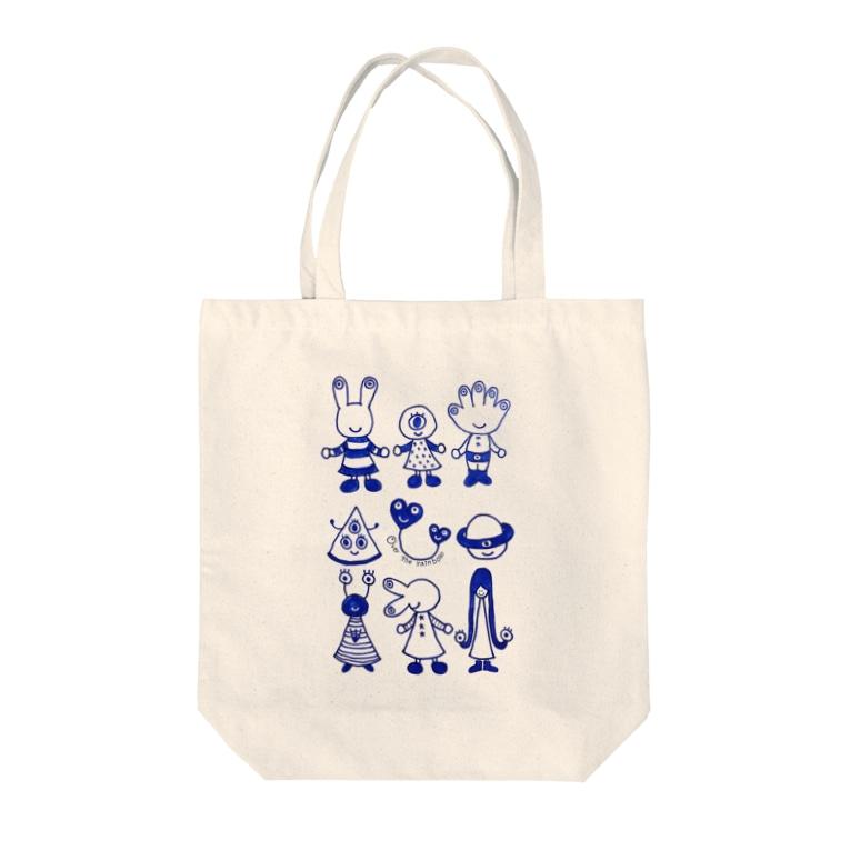 mikaの宇宙人☆目玉ファミリー Tote Bag