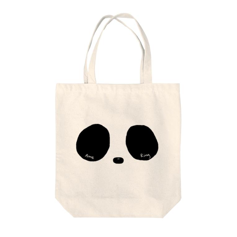 Ame-RingsのRing Eye(モノクロ) Tote bags