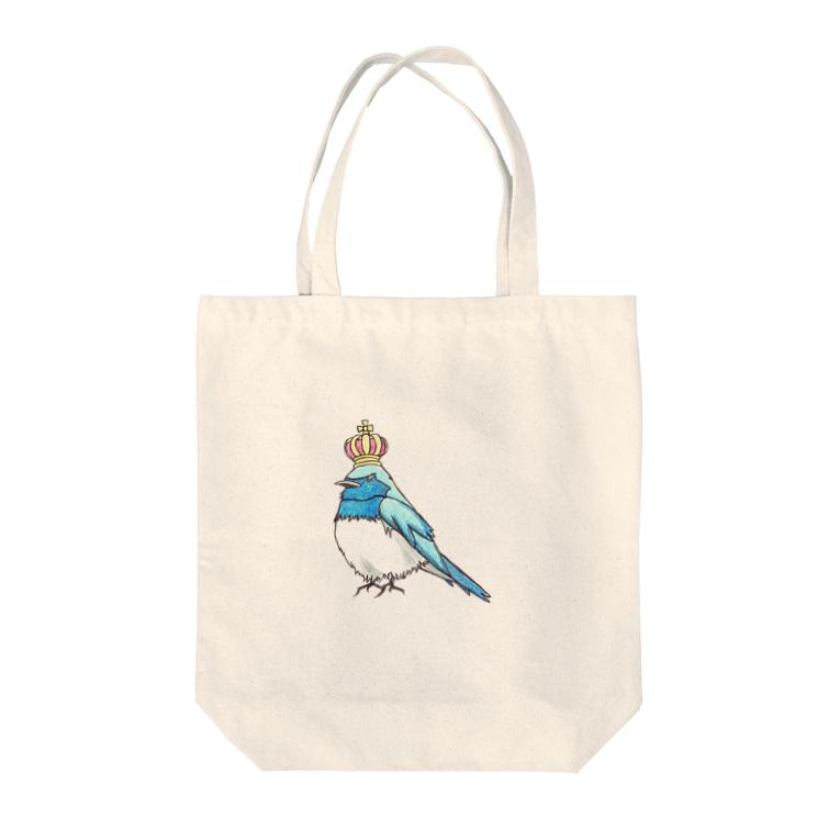 ruca's shopの王冠オオルリ Tote Bag