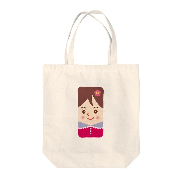 Sabbyのスマホに住んでるスマ子02 Tote bags