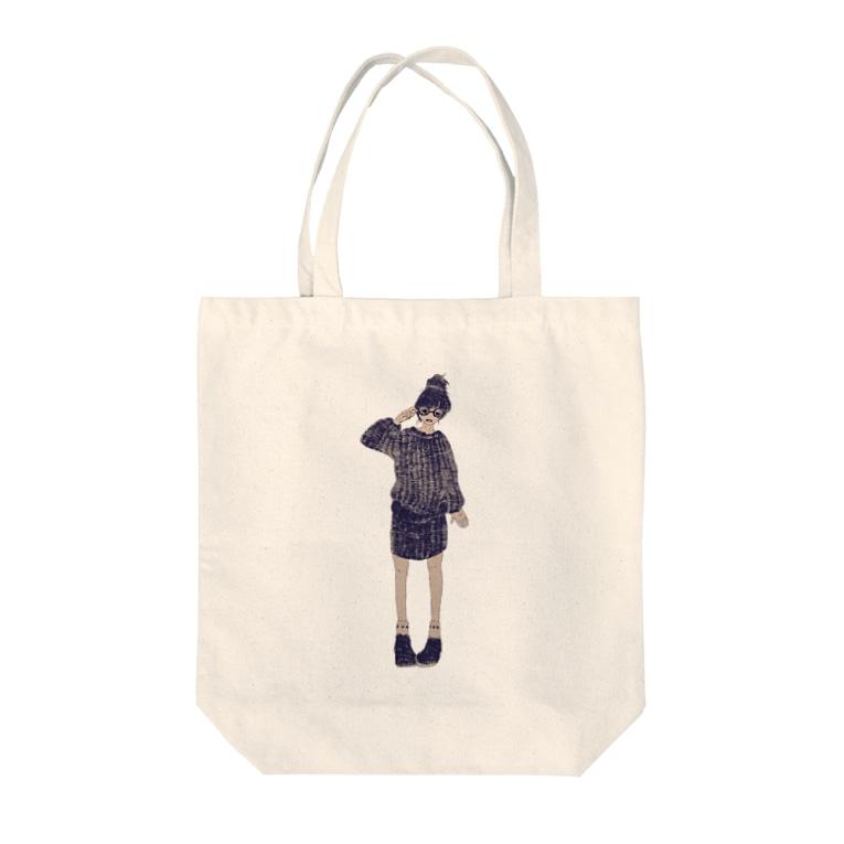 もずくの眼鏡女子 Tote bags