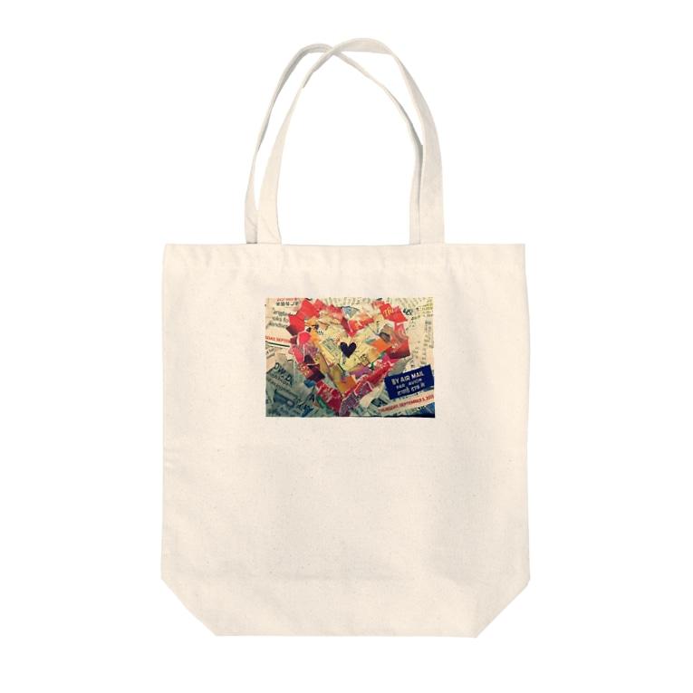 MAKIKOのheart of language  Tote bags