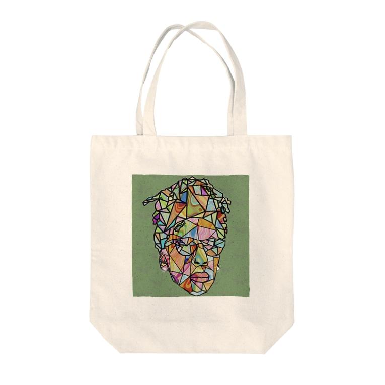 GASUMASUKUのグラフティー Tote bags