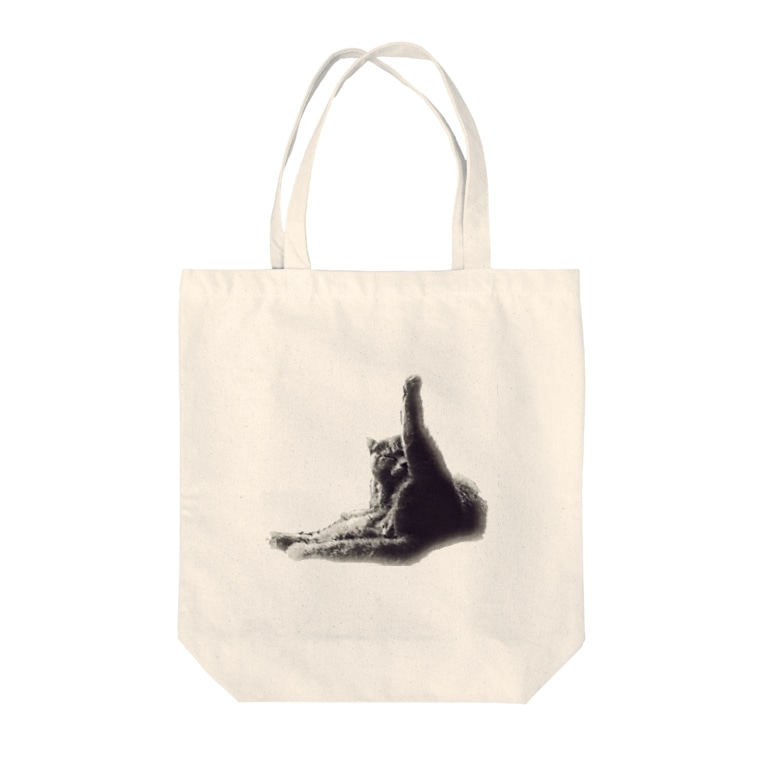 Lucky26の足ピーン猫 Tote bags