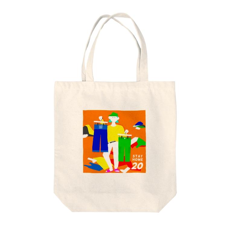 usamiayaの1人ファッションショー Tote bags