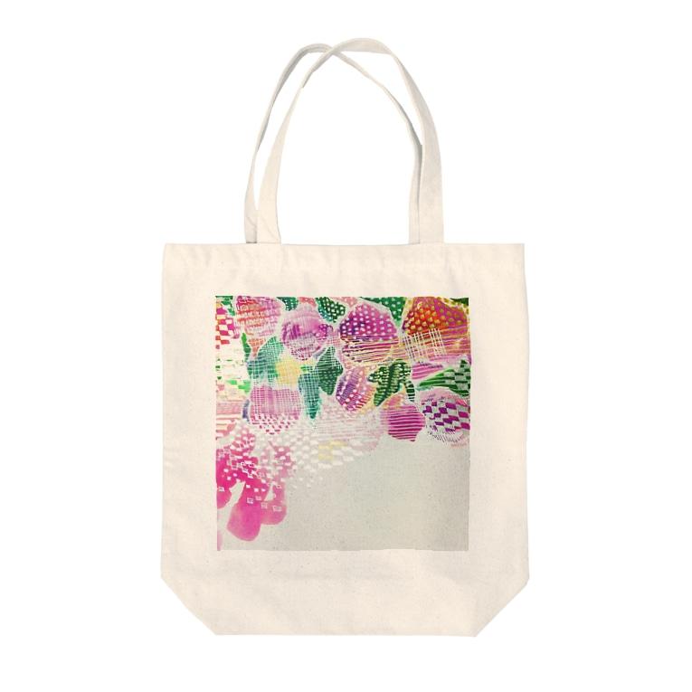 peonicの芍薬桃苺 Tote bags