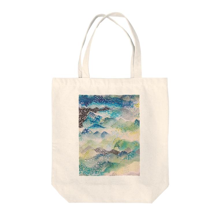 peonicの山に雨 Tote bags